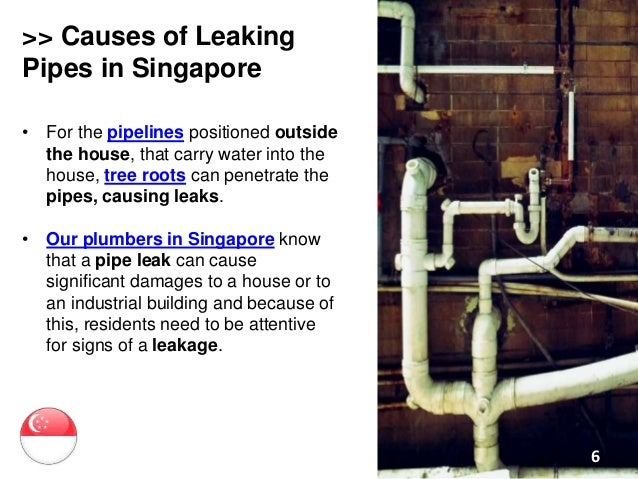 Repairing leaking pipes in singapore for The leaky pipe carries more water