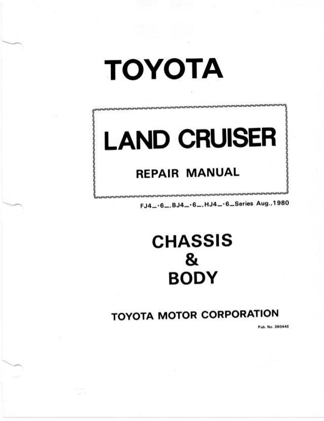 repair manual bj40 rh slideshare net Toyota Land Cruiser FJ40 toyota land cruiser bj40 repair manual