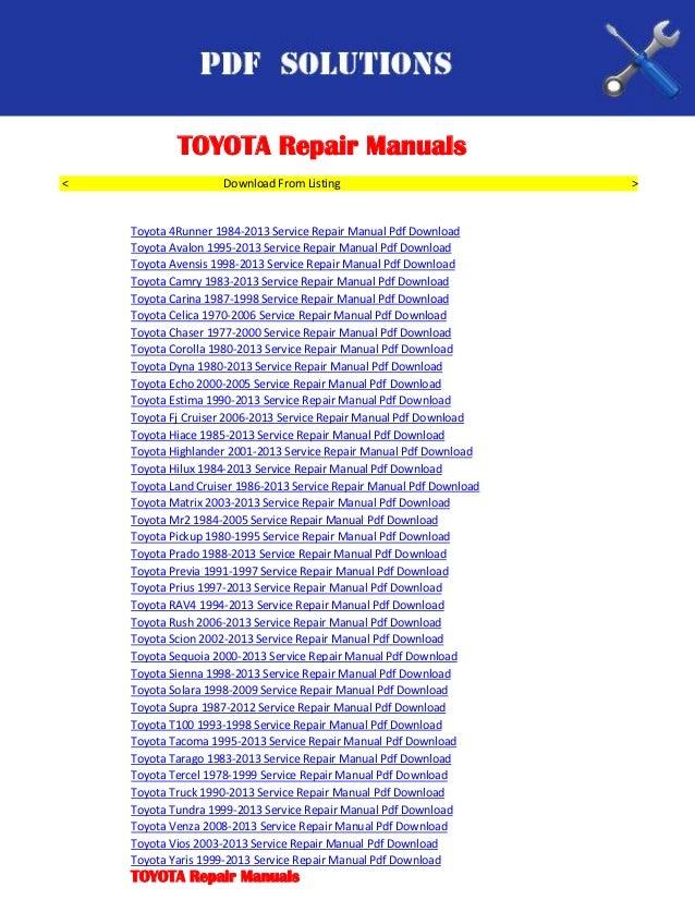 2002 toyota sienna service manual free owners manual u2022 rh wordworksbysea com Maintenance Man Maintenance Man