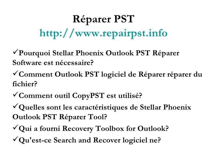 Réparer PST Slide 2