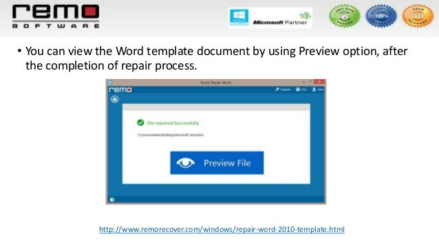 Repair word 2010 template for Word 2010 template file location