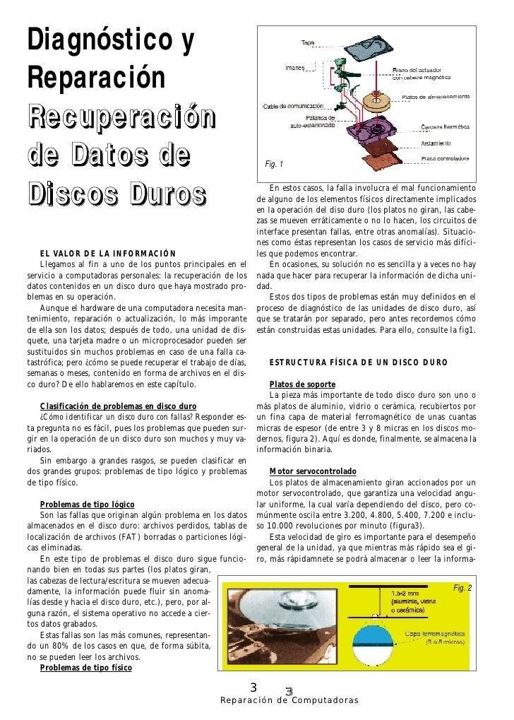 Diagnóstico y Reparación Recuperación de Datos de                                                         Fig. 1    Discos...