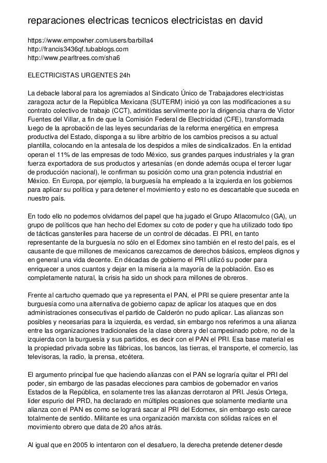 reparaciones electricas tecnicos electricistas en david https://www.empowher.com/users/barbilla4 http://francis3436qf.tuba...