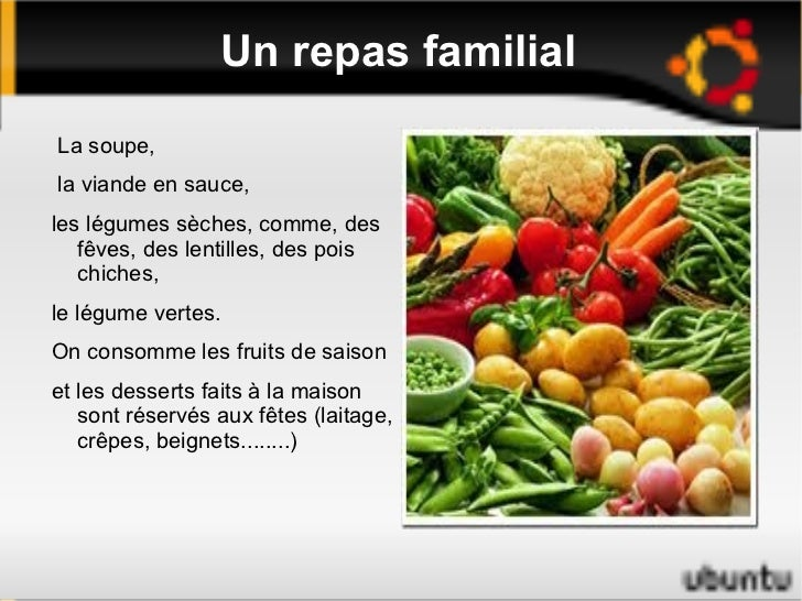 Un repas familial <ul><li>La soupe,
