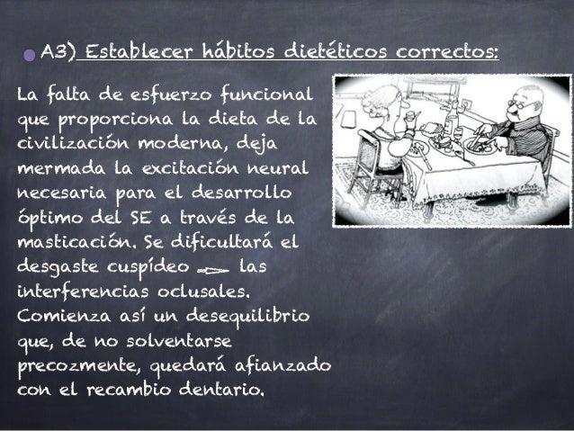 A3) Establecer hábitos dietéticos correctos: La falta de esfuerzo funcional que proporciona la dieta de la civilización mo...