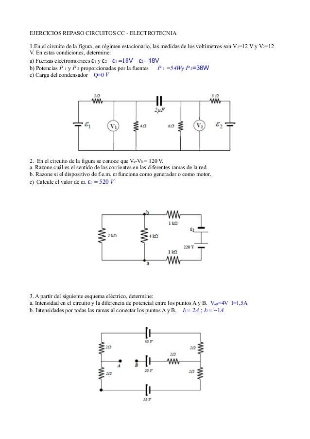 Circuito Cc : Repaso circuitos cc