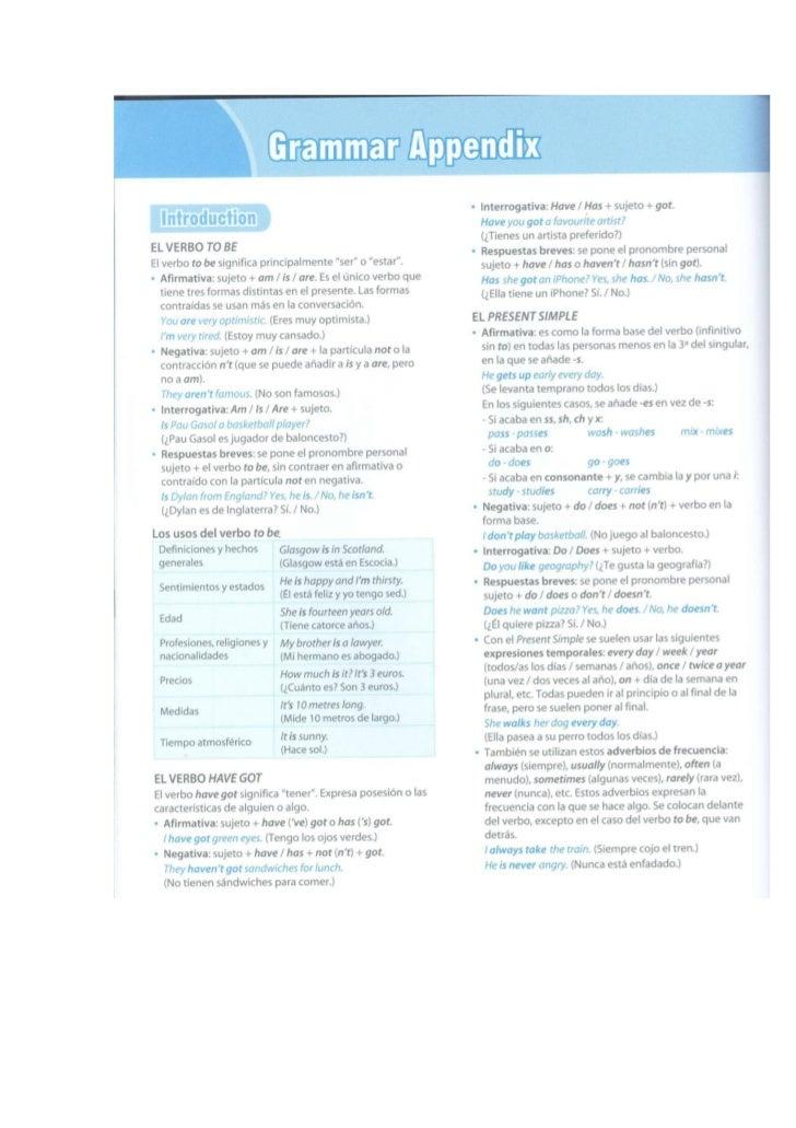 Repaso gramática 3º (units 1-5)