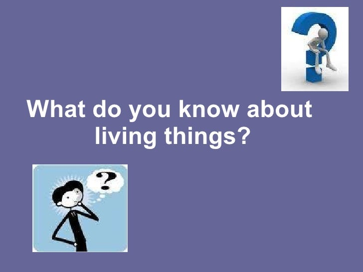 What do you know about  living things?