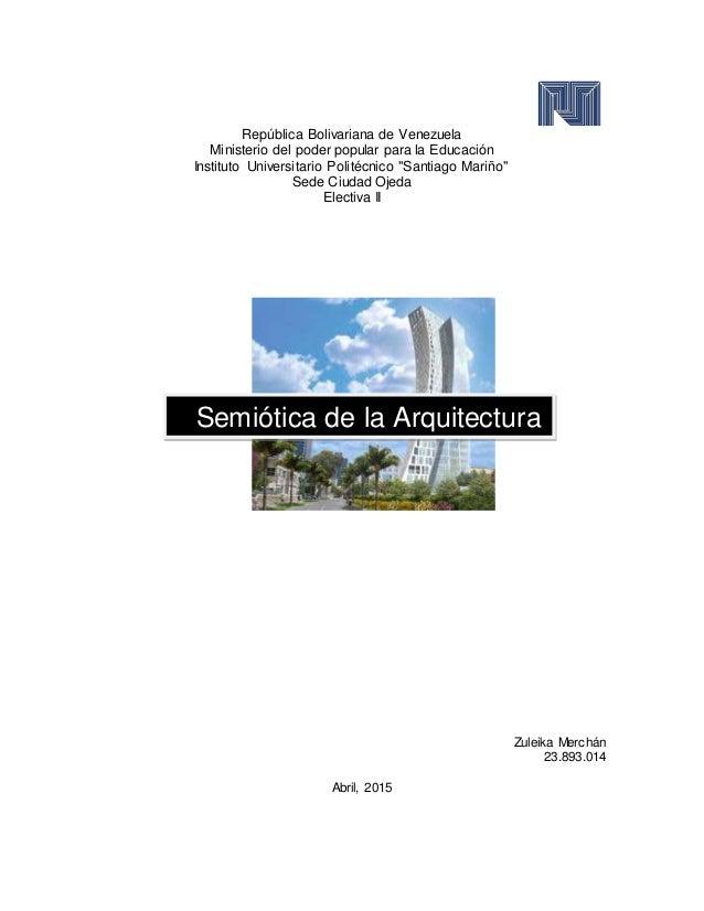 """República Bolivariana de Venezuela Ministerio del poder popular para la Educación Instituto Universitario Politécnico """"San..."""