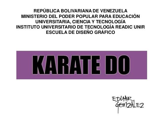 REPÚBLICA BOLIVARIANA DE VENEZUELA MINISTERIO DEL PODER POPULAR PARA EDUCACIÓN UNIVERSITARIA, CIENCIA Y TECNOLOGÍA INSTITU...