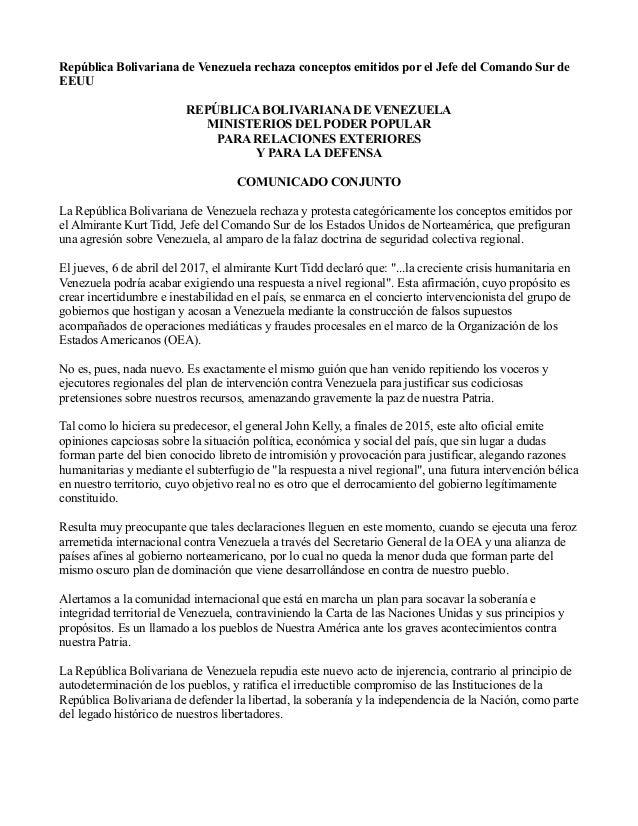 https://image.slidesharecdn.com/repblicabolivarianadevenezuelarechazaconceptosemitidosporeljefedelcomandosurdeeeuu-170407203953/95/repblica-bolivariana-de-venezuela-rechaza-conceptos-emitidos-por-el-jefe-del-comando-sur-de-eeuu-1-638.jpg?cb=1491597626