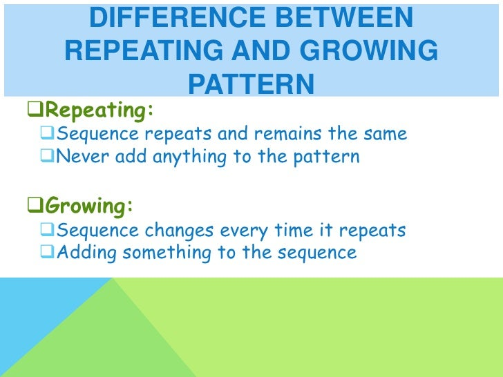 Repeating And Growing Patterns Enchanting Patterns Definition