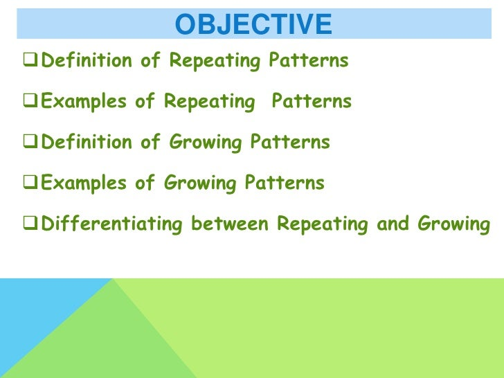 Repeating And Growing Patterns Classy Pattern Definition Math