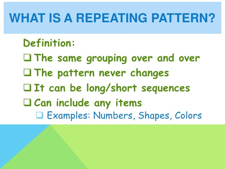 Repeating And Growing Patterns Fascinating Pattern Definition Math