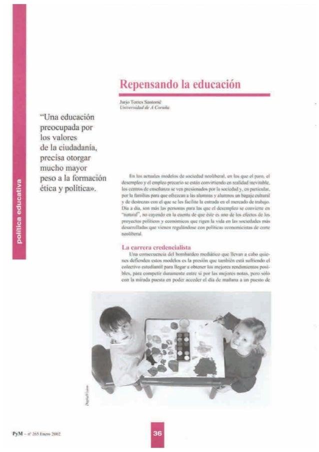 """""""Una educación preocupada por  los valores  de la ciudadanía.  precisa otorgar mucho mayor  peso a la formación ética y po..."""