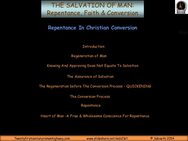 Repentance In Christian Conversion Slide 2