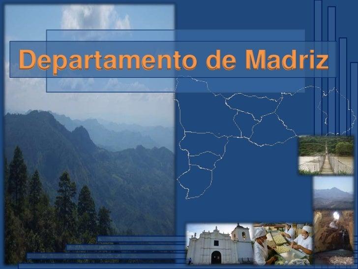 Departamento de Madriz