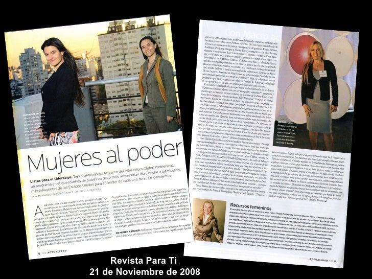 Revista Para Ti  21 de Noviembre de 2008
