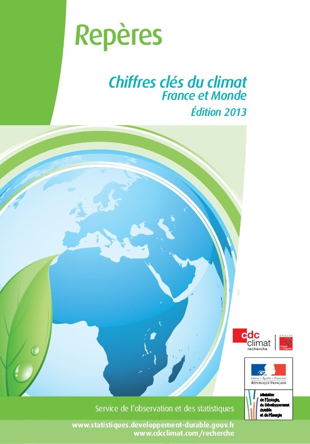 Repères          Chiffres clés du climat                           France et Monde                                    Édit...