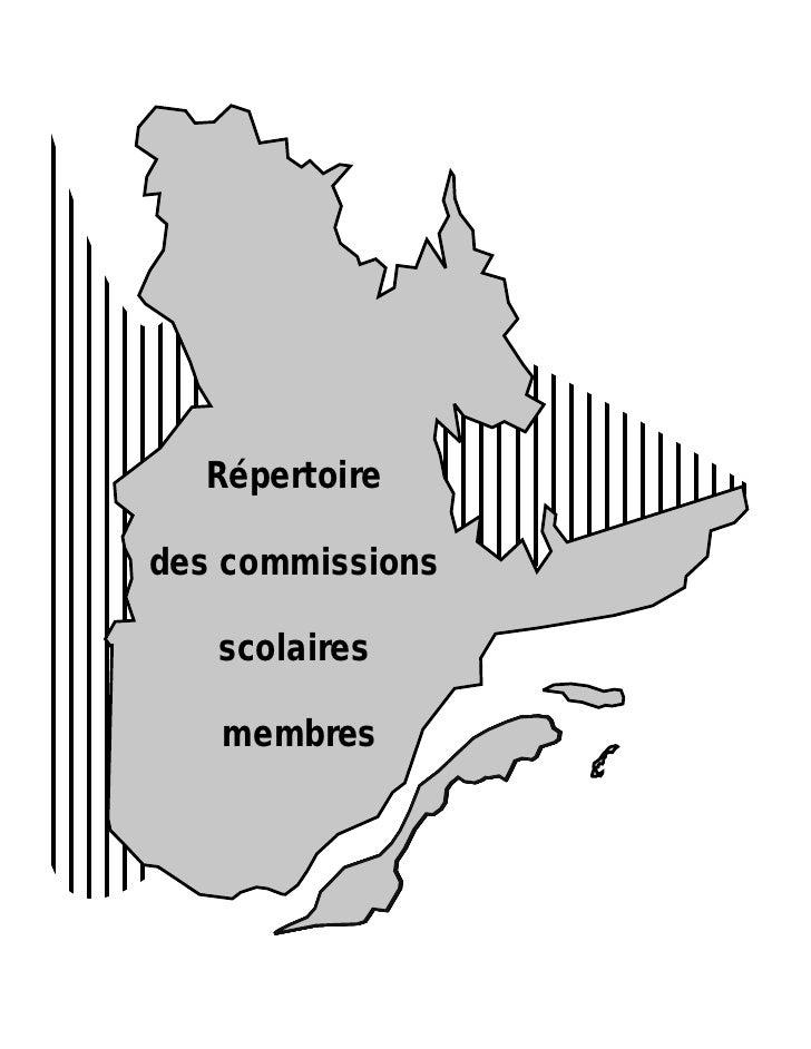 Répertoire des commissions scolaires du Québec