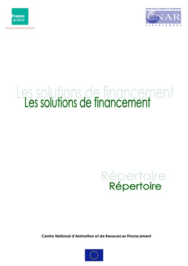 Centre National d'Animation et de Ressources Financement