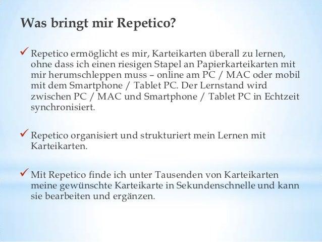 Was bringt mir Repetico? (II) Mit Repetico kann ich sogar mit meinen Freunden / meinen  Lerngruppenpartnern gemeinsam Kar...