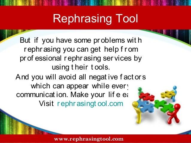 online rephrasing tool