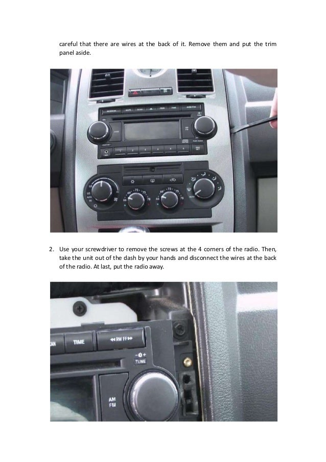 Replace A 2005 2006 2007 Chrysler 300 Touring Radio With