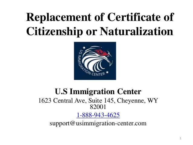 how to get a replacement naturalization certificate