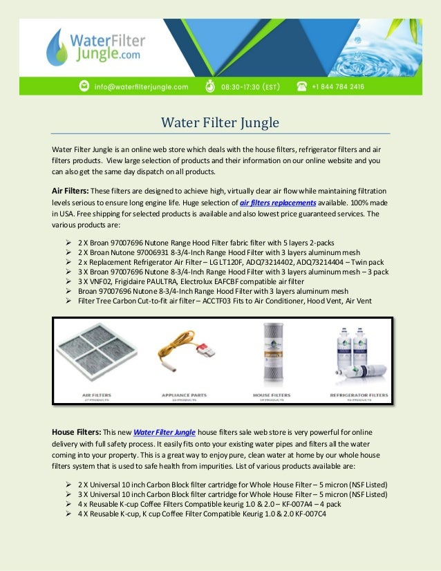 Water Filter Jungle Water Filter Jungle is an online web store which deals with the house ...  sc 1 st  SlideShare & Replacement Refrigerator Air Filter