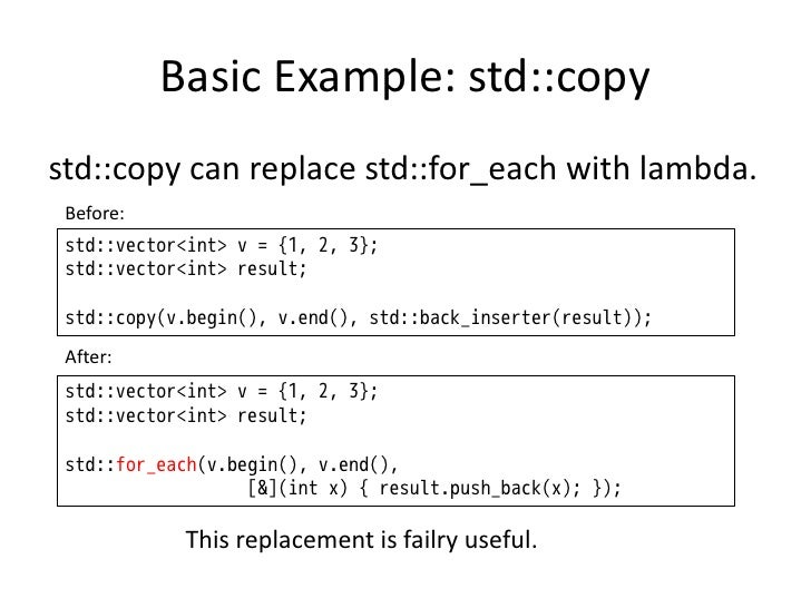 std for_each
