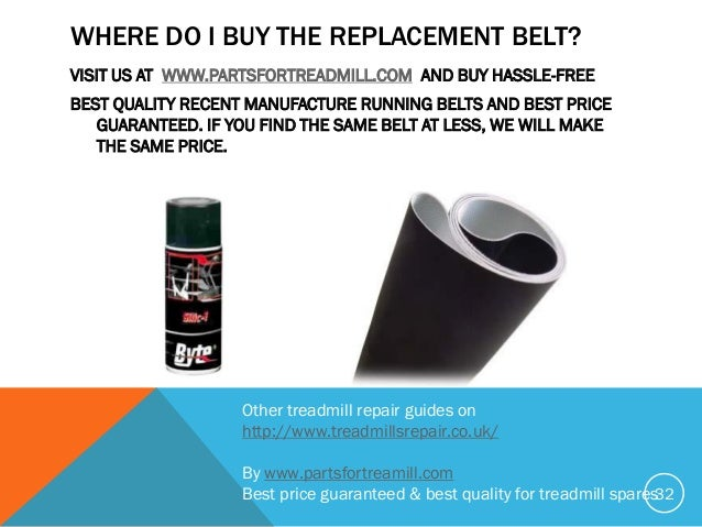 How to replace running belt do it yourself where do solutioingenieria Images