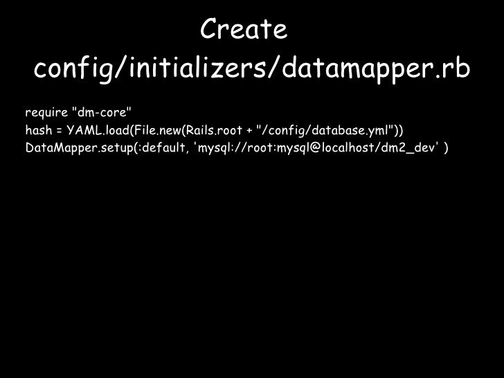 Replacing ActiveRecord With DataMapper - Data mapper c