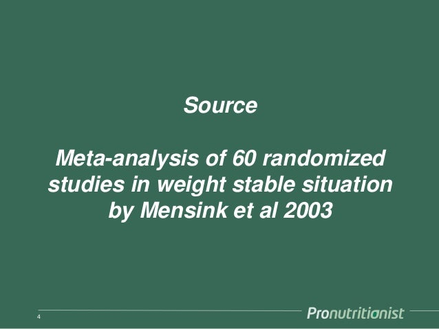 Source Meta-analysis of 60 randomized studies in weight stable situation by Mensink et al 2003 4