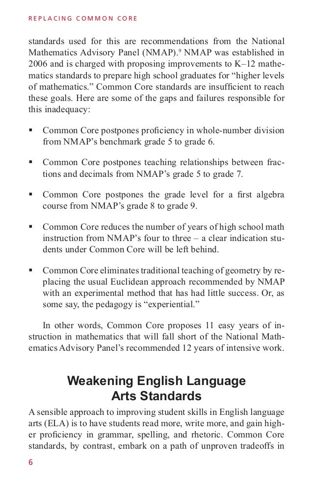 Replacing Common Core