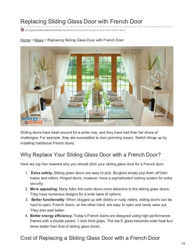 Replacing Sliding Glass Door With French Door