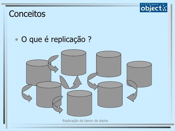 Conceitos <ul><li>O que é replicação ? </li></ul>