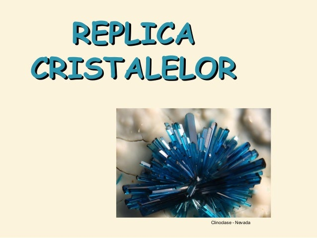 REPLICA CRISTALELOR  Clinoclase - Nevada