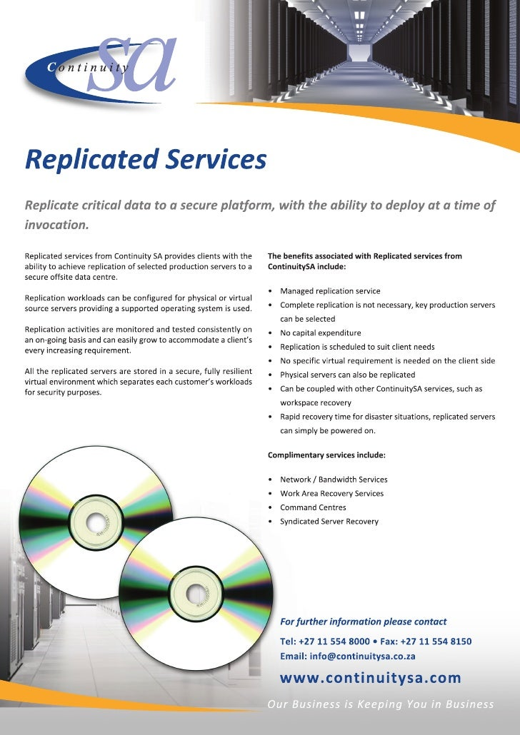 Replicated services