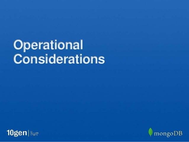 OperationalConsiderations