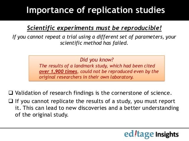 Replicating a research study