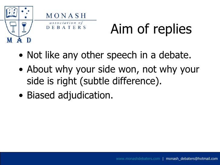 Reply Speeches