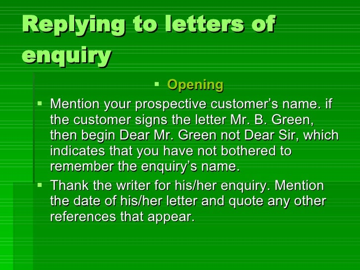 Replying to letters of enquiry replying to letters of enquiry ulliopening li spiritdancerdesigns Image collections