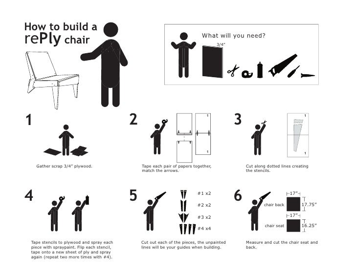 How to build a rePly chair ...  sc 1 st  SlideShare & The rePly chair project: Plan