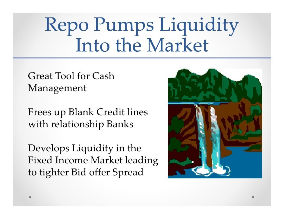 the repo market The repo market was a key channel through which the global financial crisis (gfc) was transmitted1 as asset prices declined during the crisis, repo lenders increased.
