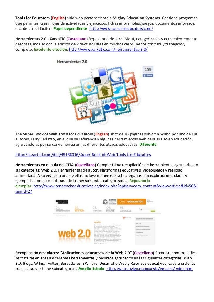 Repositorio de repositorios (Herramientas web 2.0 y Apps)