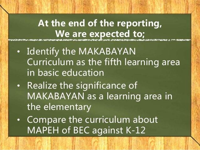 makabayan curriculum Slide 2