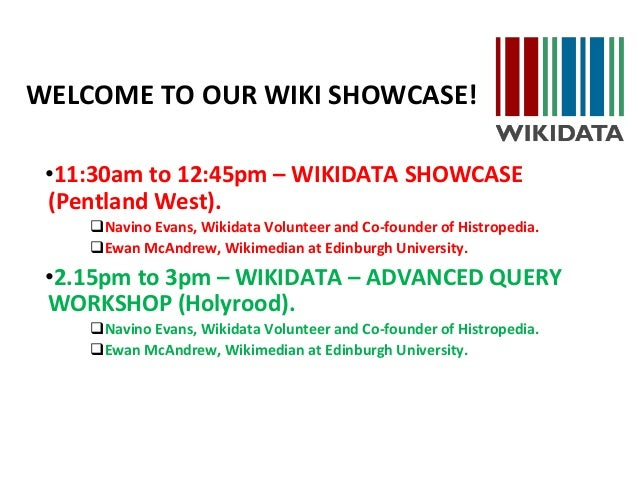 Repo fringe wikidata welcome to our wiki showcase 1130am to 1245pm wikidata ccuart Choice Image