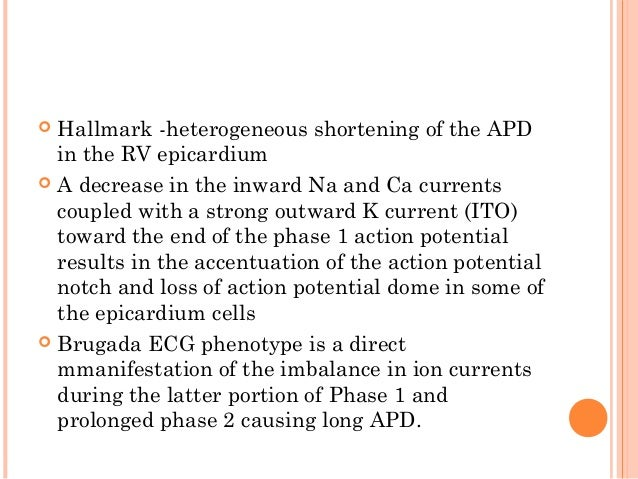CONTI..  electrical heterogeneity = electrical gradient Phase 2 reentry =of VT/VF  Predominance ITO in the epicardium, t...