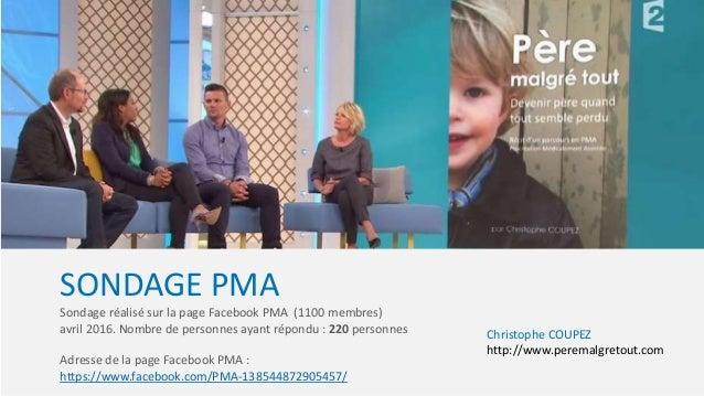 SONDAGE PMA Sondage réalisé sur la page Facebook PMA (1100 membres) avril 2016. Nombre de personnes ayant répondu : 220 pe...